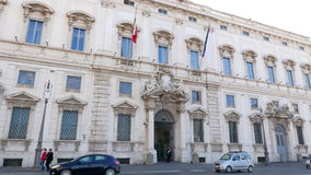 Raadpleeg Paleis Rome, Italië - Februari 18, 2015: stock videobeelden