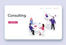 Raadplegend team Isometrische zaken stock illustratie