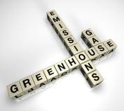 Raadsel 2 van de Emissies van het Broeikasgas Stock Foto's