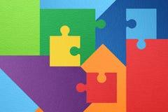 Raadsel abstracte kleurrijke achtergrond Royalty-vrije Stock Foto's