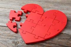Raadsel Heart Royalty-vrije Stock Foto