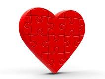 Raadsel Heart Royalty-vrije Stock Afbeeldingen