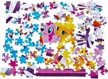 Raadsel Het stuk speelgoed van jonge geitjes royalty-vrije stock afbeelding