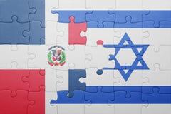 Raadsel met de nationale vlag van de Dominicaanse republiek van Israël en Royalty-vrije Stock Foto's