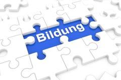 Raadsel met Duits Word voor royalty-vrije stock afbeelding