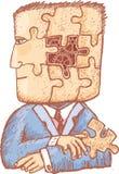 Raadsel in mijn hoofd Stock Afbeeldingen