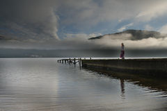 Raadselachtige Loch Lomond royalty-vrije stock afbeelding