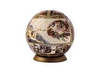 Raadselbol met Michelangelo-beeld royalty-vrije stock foto