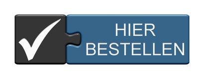Raadselknoop: Orde hier het Duits stock illustratie