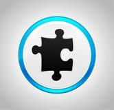 Raadselpictogram om blauwe drukknop vector illustratie