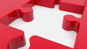 Raadselstukken in rood vector illustratie