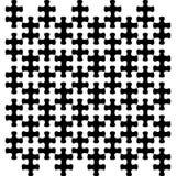 Raadselstukken in strikt net, die in zwart-wit afwisselen overlappen Royalty-vrije Stock Foto's