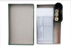 Raadsspel in doos Stock Foto
