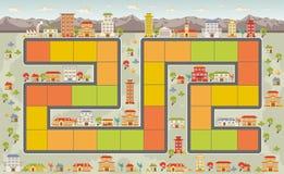 Raadsspel met een stad vector illustratie