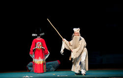 Raak de undutiful zoon met een knuppel-Jiangxi operaï ¼ š Windpaviljoen royalty-vrije stock afbeelding