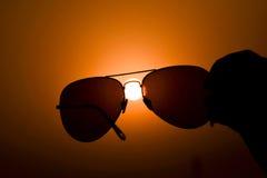 Raak de zon Stock Fotografie