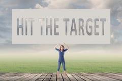 Raak het doel Stock Foto