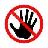 Raak niet Het teken van het verbod royalty-vrije illustratie