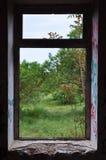 Raamkozijn abstract landschap Stock Afbeelding