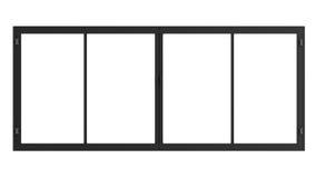 Raamkozijn dat op wit wordt geïsoleerd Royalty-vrije Stock Foto