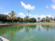 Raanana Public Park. A beautiful public park, rich vegetation, spices, animals, a lake and shaded corners for rest Stock Photo