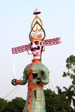 Raavan statue. Beautiful raavan statue on the occasion of dussehra festival in india Royalty Free Stock Images