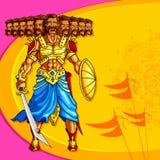 Raavana with ten head holding sword Stock Images