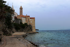 Rab ö i Kroatien Arkivbilder