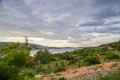 rab острова Хорватии свободного полета утесистое Стоковая Фотография RF