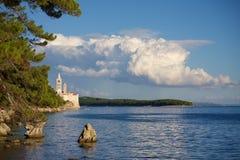 Rab, Croatia. Touristic Rab town on Rab island, Croatia, Europe Royalty Free Stock Photos