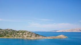 rab d'île de la Croatie de côte rocheux images libres de droits