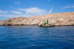 rab d'île de la Croatie de côte rocheux image stock
