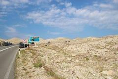 Sparse landscape near the harbor of Rab island. Croatia. royalty free stock photography