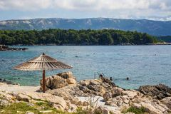 Rab Island, Croatia. Rab Island Otok Rab, is a small island in Croatia. Crystal water and blue sky Royalty Free Stock Photography