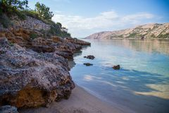 Rab Island, Croatia. Rab Island Otok Rab, is a small island in Croatia. Crystal water and blue sky royalty free stock photo
