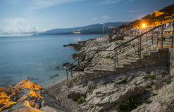Rabac, Κροατία στοκ εικόνες με δικαίωμα ελεύθερης χρήσης