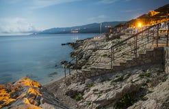 Rabac, Хорватия Стоковые Изображения RF
