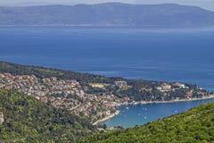 Rabac -旅游胜地在Istria 库存图片