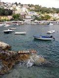 Rabac, Sommeransicht zum Hafen, adriatische Küste 2015 Lizenzfreie Stockfotos