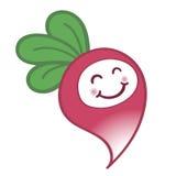 Rabanete feliz dos desenhos animados com um sorriso bonito Imagens de Stock Royalty Free