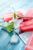 Rabarbarowi popsicles Obrazy Royalty Free