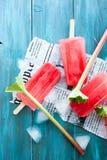 Rabarbarowi popsicles Obraz Stock