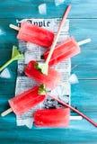 Rabarbarowi popsicles Zdjęcia Royalty Free