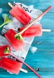 Rabarbarowi popsicles Obraz Royalty Free