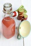 Rabarbarowy sok Fotografia Royalty Free