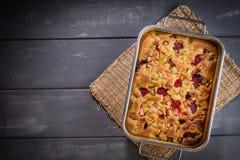 Rabarbaru tort od piekarnika zdjęcia royalty free