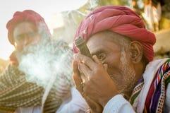 Rabari部落成员 图库摄影