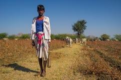 年轻Rabari部落成员 免版税图库摄影