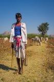年轻Rabari部落成员 免版税库存照片