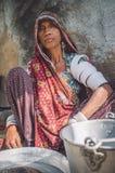 Rabari tribeswoman 免版税库存照片